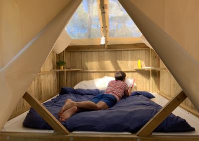 L'intérieur d'un campétoile