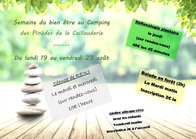 Semaine du Bien Etre au camping du 19 au 23/08