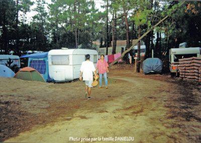 Emplacements de camping il y a quelques années…