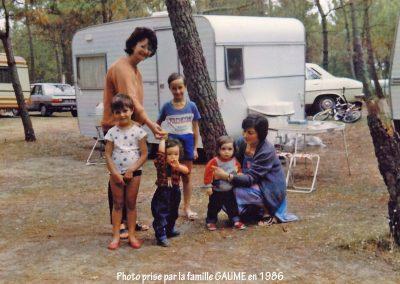 Campeurs en 1986