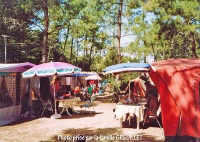 Campement dans les années 1970