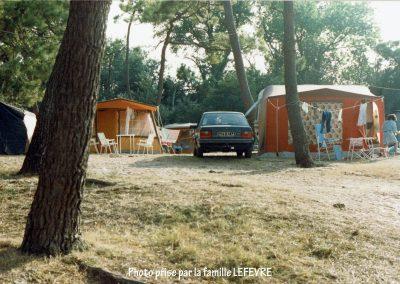 Campement dans les années1970