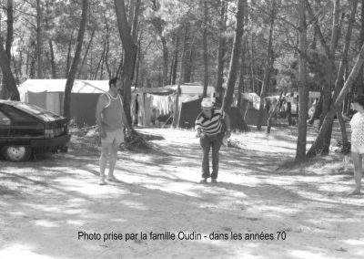 Partie de pétanque dans les année 70